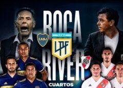 El superclásico por cuartos de final de la LPF se jugará el domingo a las 17.30 en la Bombonera